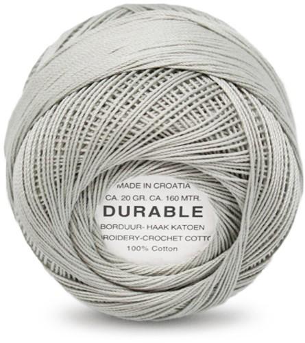 Durable Stick- und Häkelbaumwollgarn 1044 Light Grey