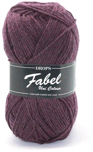 Drops Fabel Uni Colour 104 Purple