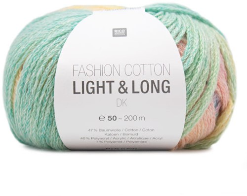 Fashion Cotton Light & Long Jacke Strickpaket 1 36/40 Multicolor
