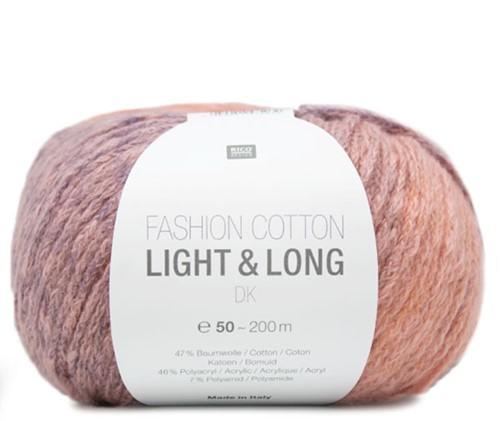 Fashion Cotton Light & Long Jacke Strickpaket 2 42/46 Lila Mix