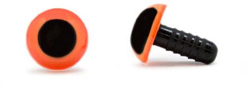 Sicherheitsaugen Orange 10mm 2 Stück