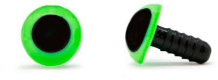 Sicherheitsaugen Grün 10mm 2 Stück
