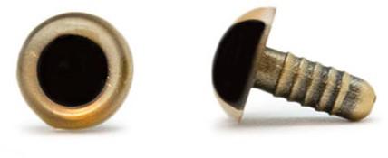 Sicherheitsaugen Gold 10mm 2 Stück