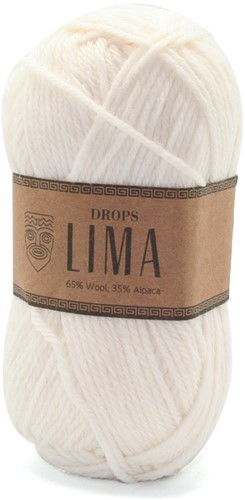 Drops Lima Uni Colour 1101 Weiss