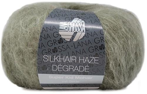 Silkhair Haze Dégradé Schal Strickpaket 1 Khaki / Dark Olive