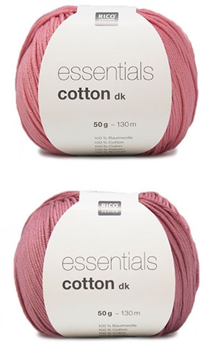 Essentials Cotton Fröhliches Sommertop Strickpaket 1 Pink