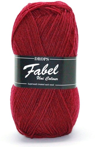 Drops Fabel Uni Colour 113 Burgundy