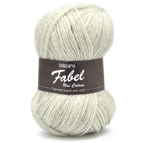 Drops Fabel Uni Colour 114 Light-pearl-grey