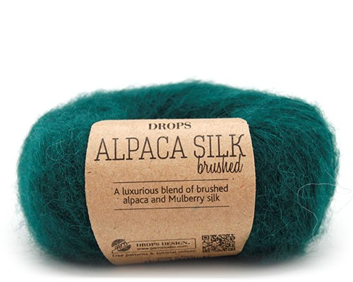 Drops Brushed Alpaca Silk Uni Colour 11 Forest-green