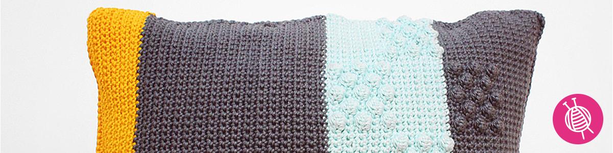 Kissen häkeln aus Yarn and Colors Super Must-Have