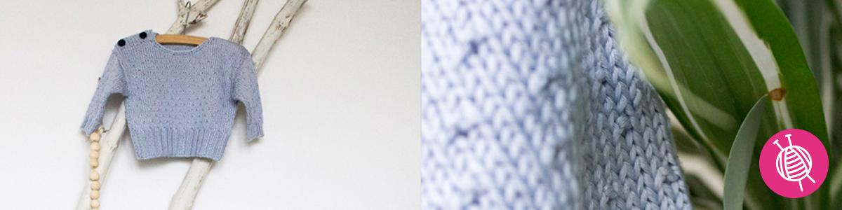Babypullover stricken aus Hoooked Eucalyps - kostenlose Anleitung