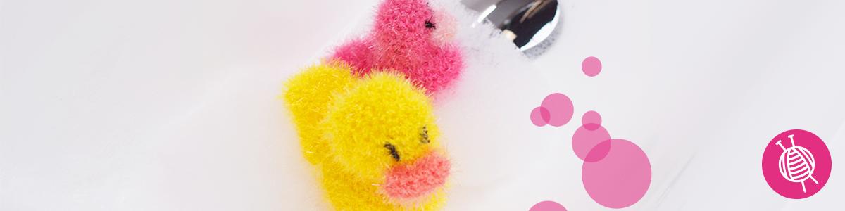 Badeente häkeln mit Schwammgarn Creative Bubble