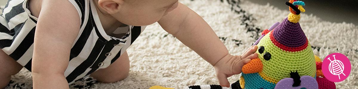 Fantasievogel - Babykuscheltier – kostenlose Häkelanleitung
