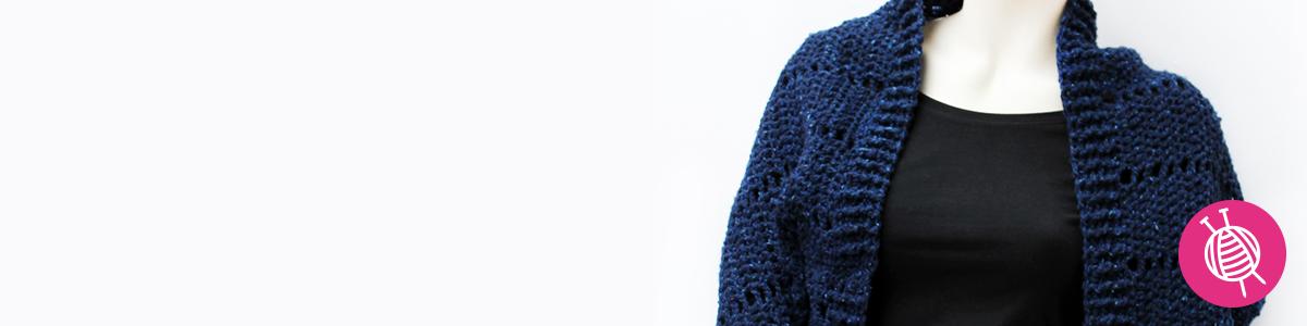 Shrug häkeln mit Lana Grossa Royal Tweed