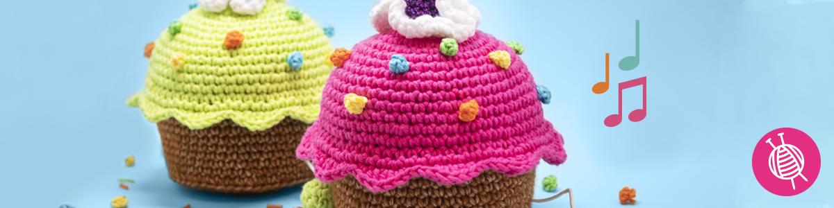 Cupcake häkeln - Happy Birthday!