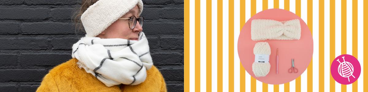 Stirnband Furry - gratis Häkelanleitung