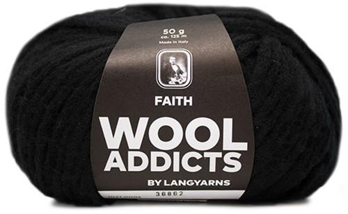 Wooladdicts Boho Soul Kapuzenschal Strickpaket 2 Black