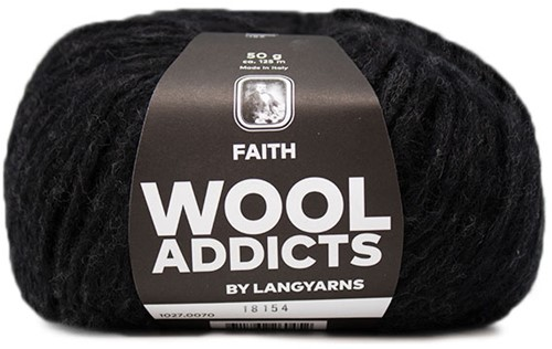 Wooladdicts Boho Soul Kapuzenschal Strickpaket 9 Anthracite