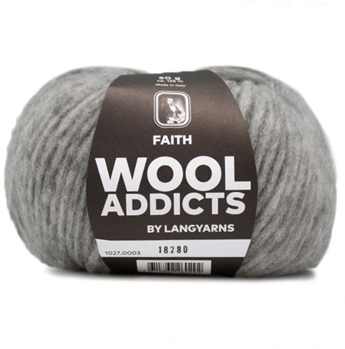 Wooladdicts Unique Mosaic Schal Häkelpaket 1 Light Grey Mélange