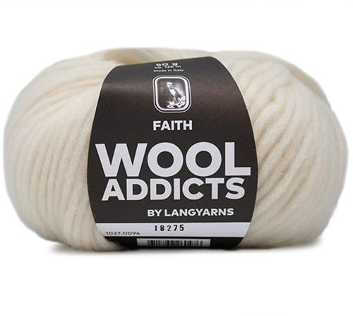 Wooladdicts Unique Mosaic Schal Häkelpaket 10 Off-White