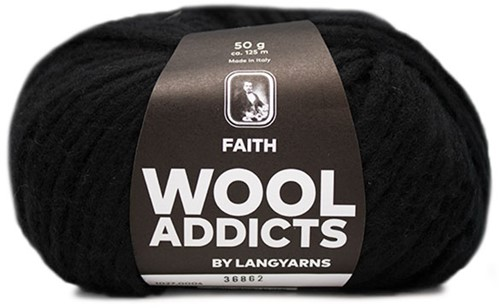 Wooladdicts Unique Mosaic Schal Häkelpaket 2 Black