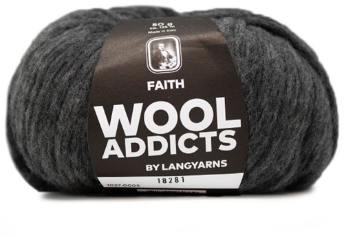 Wooladdicts Unique Mosaic Schal Häkelpaket 3 Grey Mélange
