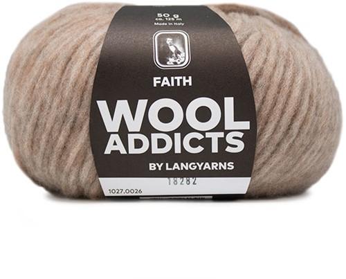 Wooladdicts Unique Mosaic Schal Häkelpaket 6 Beige