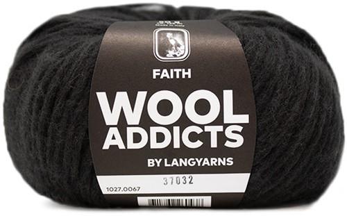 Wooladdicts Unique Mosaic Schal Häkelpaket 8 Dark Brown