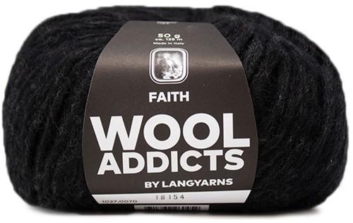 Wooladdicts Unique Mosaic Schal Häkelpaket 9 Anthracite