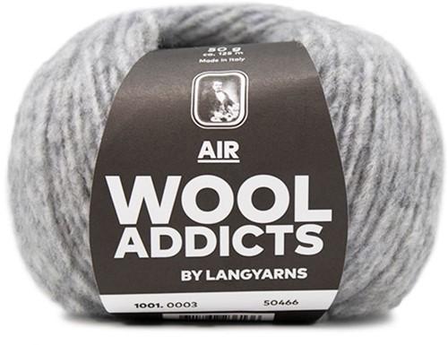 Wooladdicts City Life Pullover Strickpaket 1 XL Light Grey Mélange