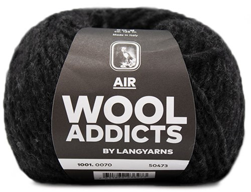 Wooladdicts City Life Pullover Strickpaket 11 L Anthracite