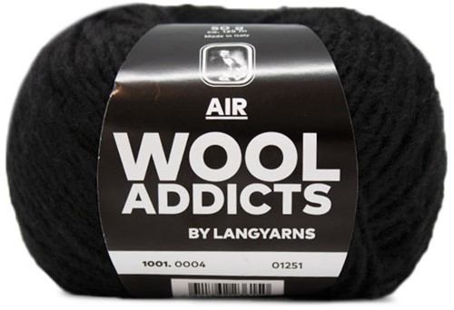 Wooladdicts City Life Pullover Strickpaket 2 L Black