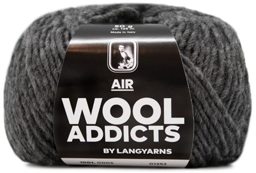 Wooladdicts City Life Pullover Strickpaket 3 XL Grey Mélange