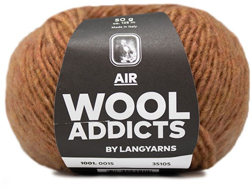 Wooladdicts City Life Pullover Strickpaket 5 L Amber Mélange