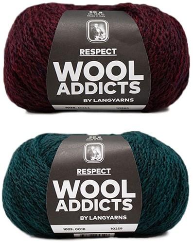 Wooladdicts Hidden Feelings Pullover Strickpaket 1 S Moss Mélange / Sunset