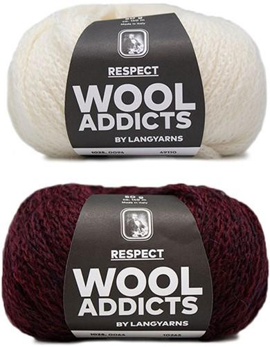 Wooladdicts Hidden Feelings Pullover Strickpaket 3 M Sunset / Off-White