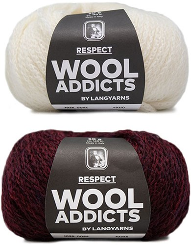 Wooladdicts Hidden Feelings Pullover Strickpaket 3 L Sunset / Off-White
