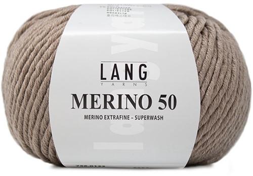 Lang Yarns Merino 50 122 Beige Mélange