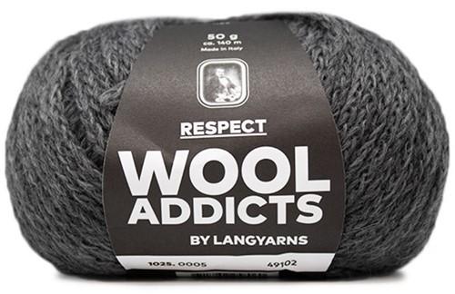 Wooladdicts Seductive Secret Strickjacke Strickpaket 3 L Grey Mélange