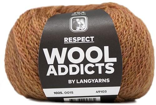 Wooladdicts Seductive Secret Strickjacke Strickpaket 4 L Amber Mélange
