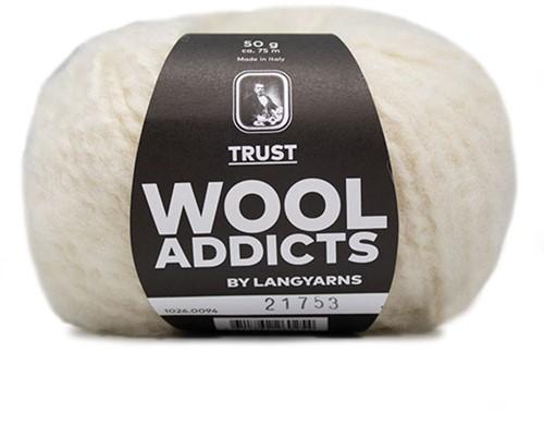 Wooladdicts Devoted Dancer Pullover Strickpaket 10 L/XL Off-White