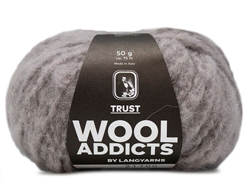 Wooladdicts Devoted Dancer Pullover Strickpaket 1 L/XL Light Grey Mélange