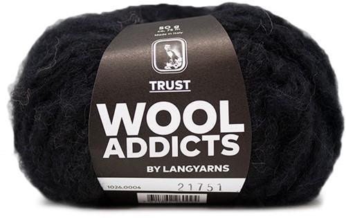 Wooladdicts Devoted Dancer Pullover Strickpaket 2 L/XL Black
