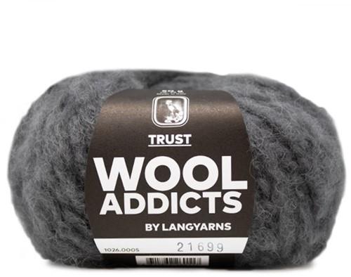Wooladdicts Devoted Dancer Pullover Strickpaket 3 L/XL Grey Mélange