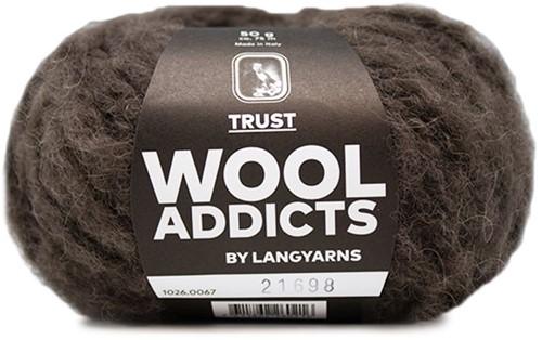 Wooladdicts Devoted Dancer Pullover Strickpaket 8 L/XL Dark Brown