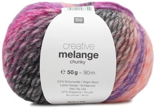 Creative Melange Chunky Pullover Strickpaket 1 40/42 Lila-Pink