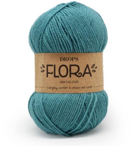Drops Flora Uni Colour 12 Turquoise