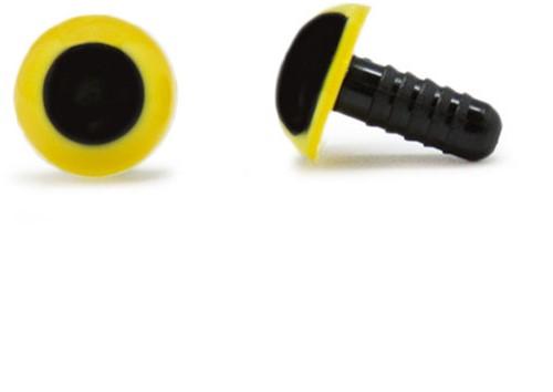 Sicherheitsaugen Gelb 12mm 2 Stück