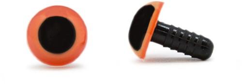 Sicherheitsaugen Orange 12mm 2 Stück