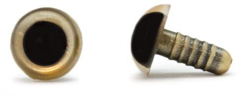 Sicherheitsaugen Gold 12mm 2 Stück